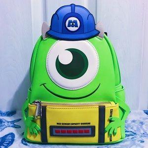NWT 🚪 Loungefly Pixar Mike Wazowski Backpack